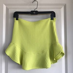 Zara textured mini skirt with flounce hem